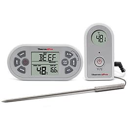 ThermoPro Digitales TP21 Funk-Grill-Bratenthermometer Wireless Grillthermometer Ofenthermometer BBQ Küche Thermometer mit Timer und Stoppuhr Funktion - 1