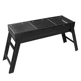 Sunjas Holzkohlegrill, Picknickgrill Faltbare, BBQ Campinggrill, Outdoor Klappgrill, Tischgrill für Picknick Party Barbecue (groß 70x20x37cm) - 1